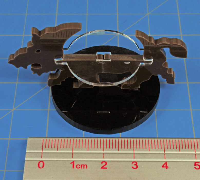 Boar Character Mount with 40mm Circular Base, Brown - LITKO Game Accessories
