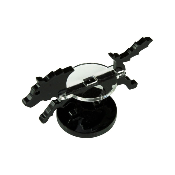 Small Hound Character Mount with 25mm Circular Base, Black - LITKO Game Accessories