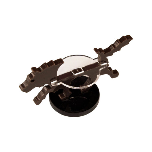 Small Hound Character Mount with 25mm Circular Base, Brown - LITKO Game Accessories