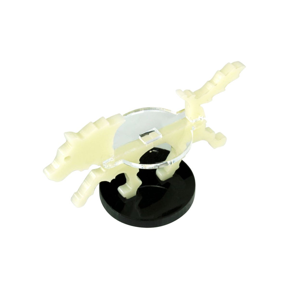 Small Hound Character Mount with 25mm Circular Base, Ivory - LITKO Game Accessories