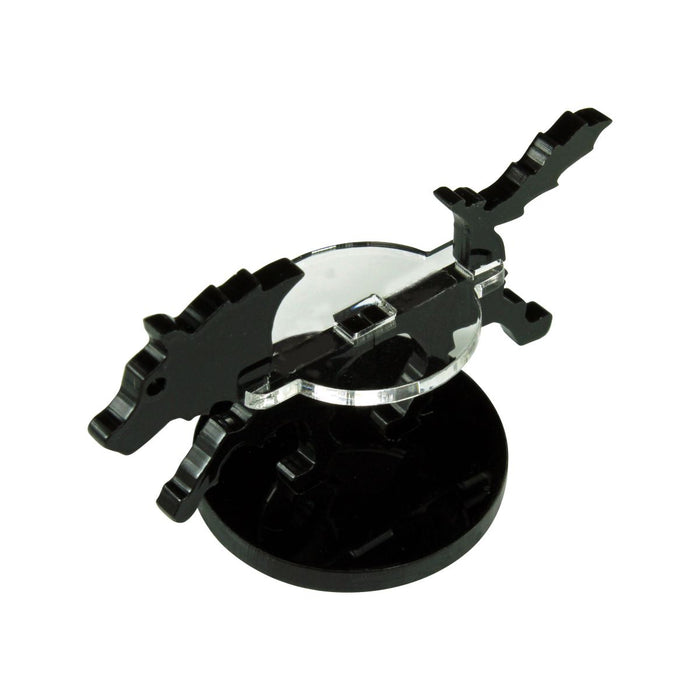 Small Hound Character Mount with 30mm Circular Base, Black - LITKO Game Accessories