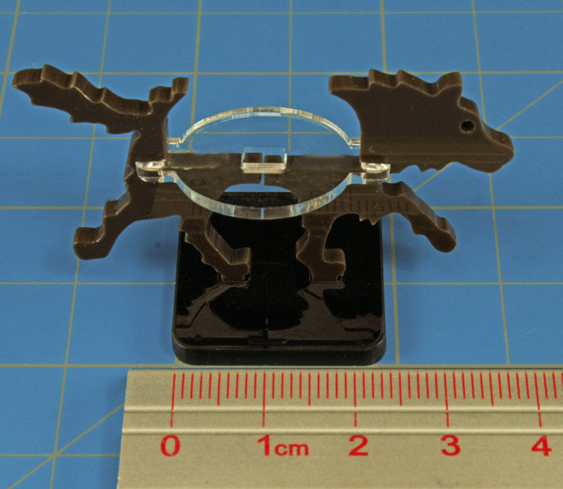 Small Hound Character Mount with 25mm Square Base, Brown - LITKO Game Accessories