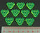 LITKO Net Hacker Virus Tokens, Fluorescent Green (10) - LITKO Game Accessories