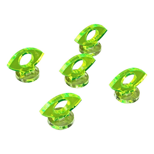 Space Fighter Focus Markers, Fluorescent Green (5) - LITKO Game Accessories