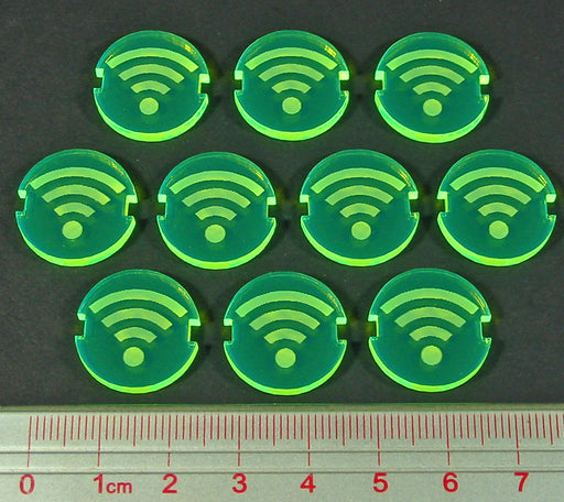 Space Wing Scan Tokens, Fluorescent Green (10) - LITKO Game Accessories