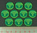 LITKO Space Wing, Scan Tokens, Fluorescent Green (10) - LITKO Game Accessories
