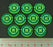 Space Wing Battle Station Tokens, Fluorescent Green (10) - LITKO Game Accessories
