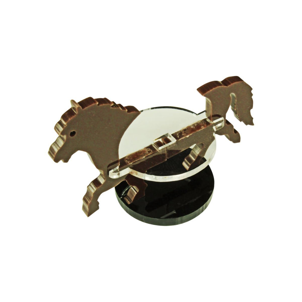 Pony Character Mount with 1-inch Circle Base, Brown - LITKO Game Accessories