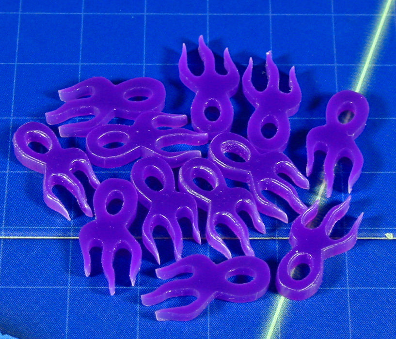 LITKO Mutation Virus Tokens, Purple (12) - LITKO Game Accessories