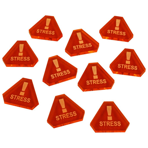Space Fighter Stress Tokens, Fluorescent Amber (10) - LITKO Game Accessories