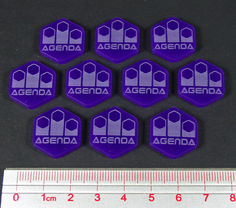 Net Hacker Agenda Tokens, Purple (10) - LITKO Game Accessories