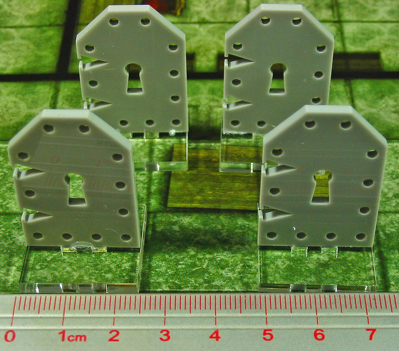 Metal Door Markers, Medium, Grey (4) - LITKO Game Accessories