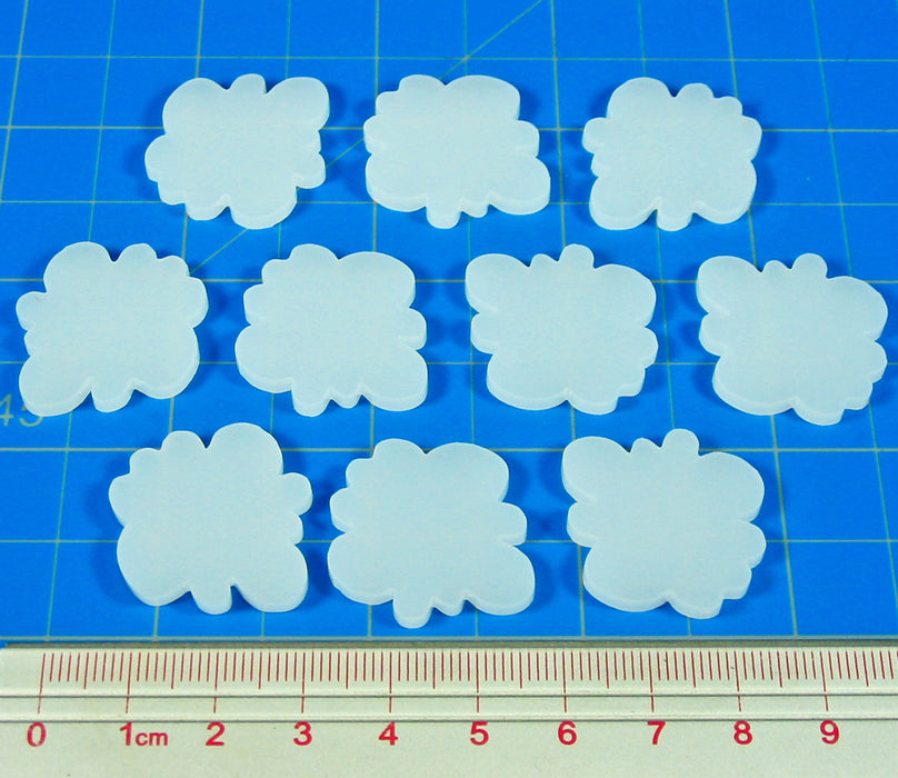 Fire Fighting Game Smoke Tokens, White (10) - LITKO Game Accessories