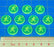 Fire Fighting Game Action Tokens, Fluorescent Green (10) - LITKO Game Accessories