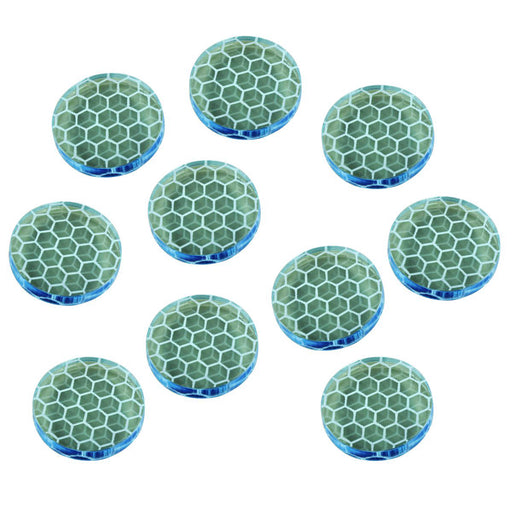 LITKO Shield Tokens Compatible with Space Fighter, Transparent Light Blue (10) - LITKO Game Accessories