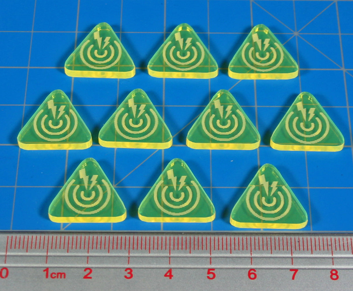 LITKO Noise Tokens, Fluorescent Yellow (10) - LITKO Game Accessories