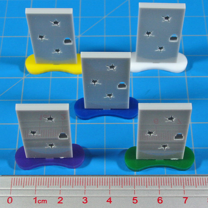 Locked Door Markers Objective Set (5) - LITKO Game Accessories