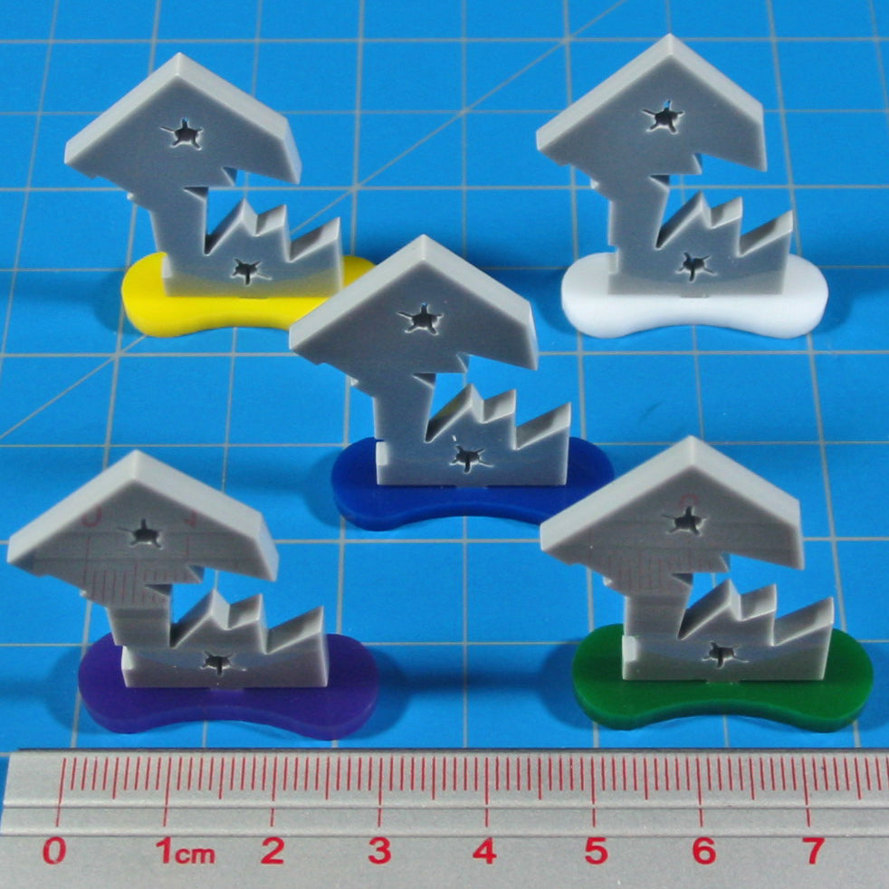LITKO Broken Door Markers, Objective Set (5) - LITKO Game Accessories