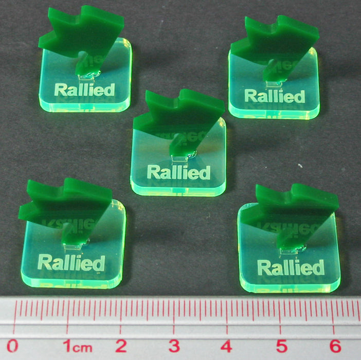 LITKO Fantasy Battle Rallied Markers, Fluorescent Green & Green (5) - LITKO Game Accessories