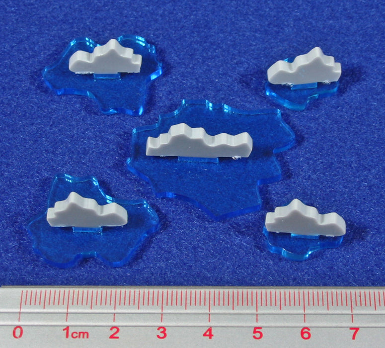 Naval Rocky Shoal Set (5) - LITKO Game Accessories
