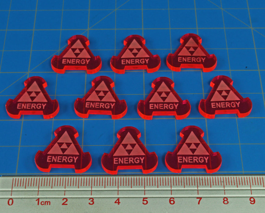Space Fighter Energy Tokens, Fluorescent Pink (10) - LITKO Game Accessories