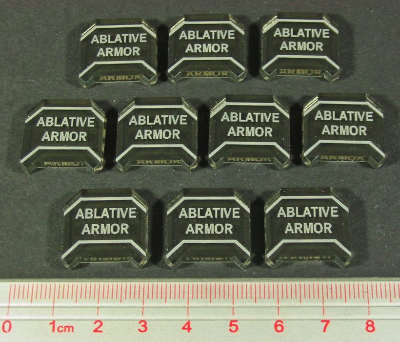 Space Wing Ablative Armor Tokens, Transparent Bronze (10) - LITKO Game Accessories