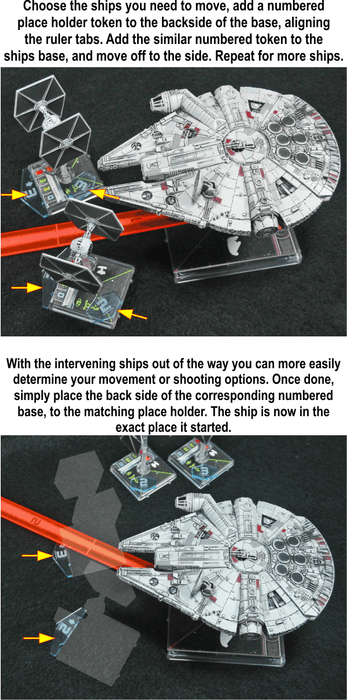 Space Fighter Scum Place Holder Token Set #1-5, Fluorescent Yellow (10) - LITKO Game Accessories