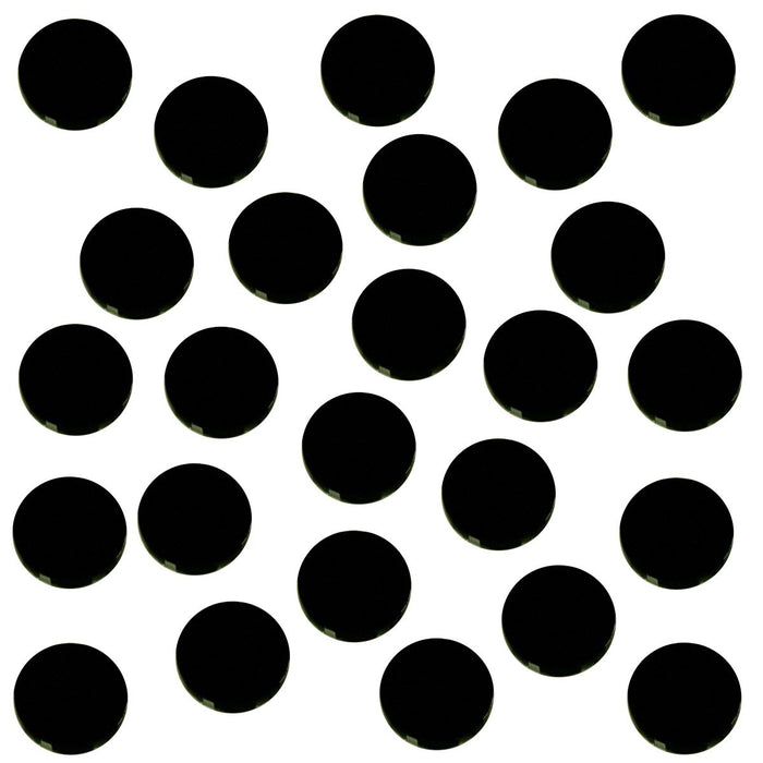 18mm Circular Game Tokens, Black (25) - LITKO Game Accessories