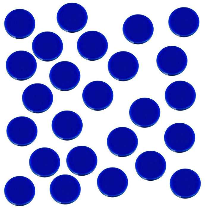 18mm Circular Game Tokens, Blue (25) - LITKO Game Accessories