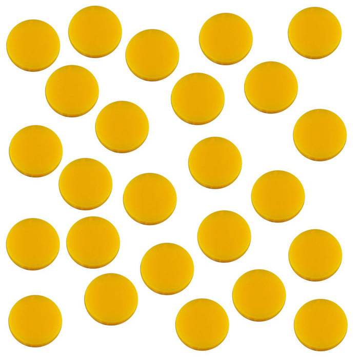 18mm Circular Game Tokens, Gold (25) - LITKO Game Accessories