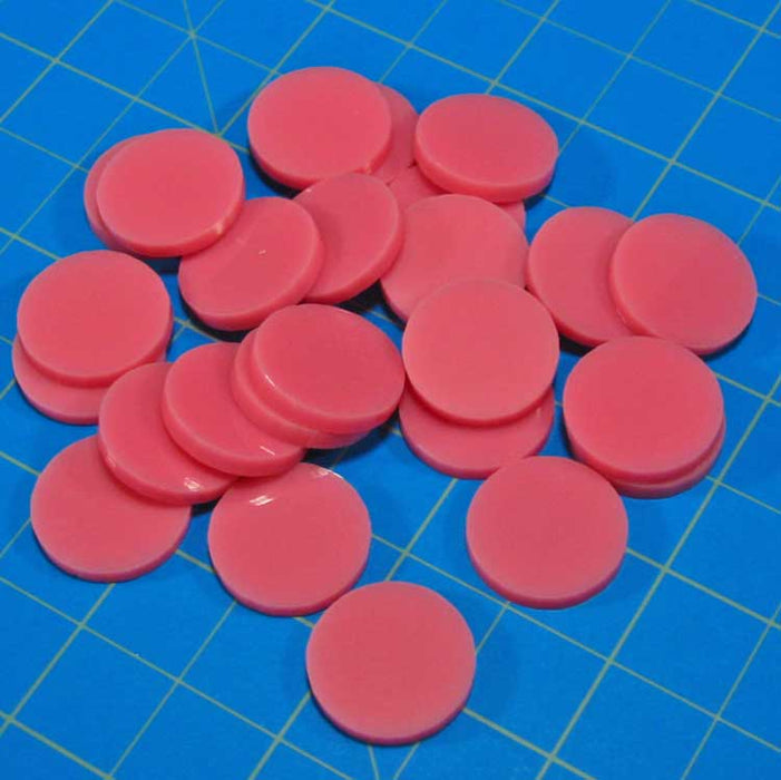 18mm Circular Game Tokens, Pink (25) - LITKO Game Accessories