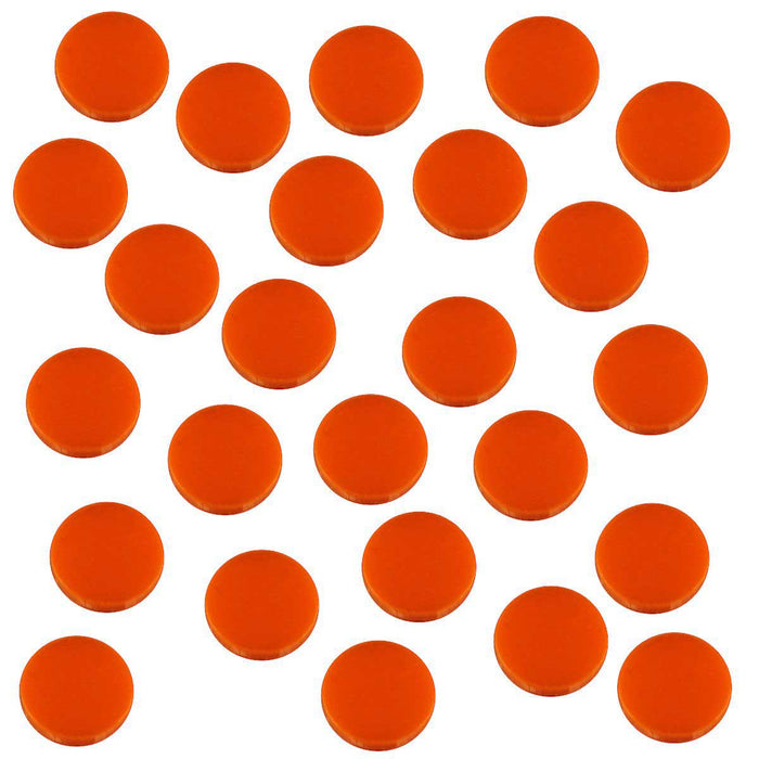 18mm Circular Game Tokens, Orange (25) - LITKO Game Accessories