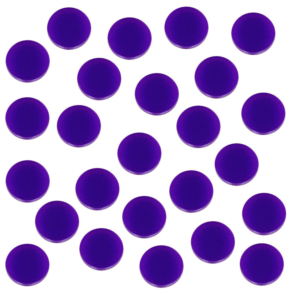 18mm Circular Game Tokens, Purple (25) - LITKO Game Accessories