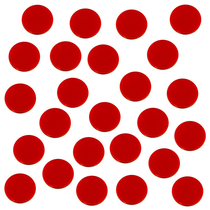 18mm Circular Game Tokens, Red (25) - LITKO Game Accessories