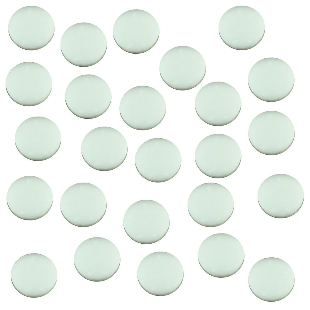 18mm Circular Game Tokens, White (25) - LITKO Game Accessories