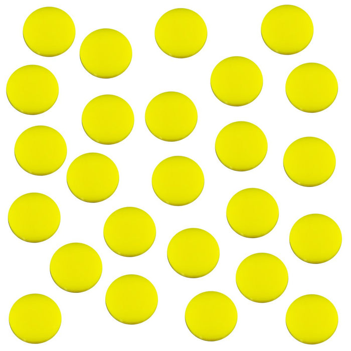 18mm Circular Game Tokens, Yellow (25) - LITKO Game Accessories