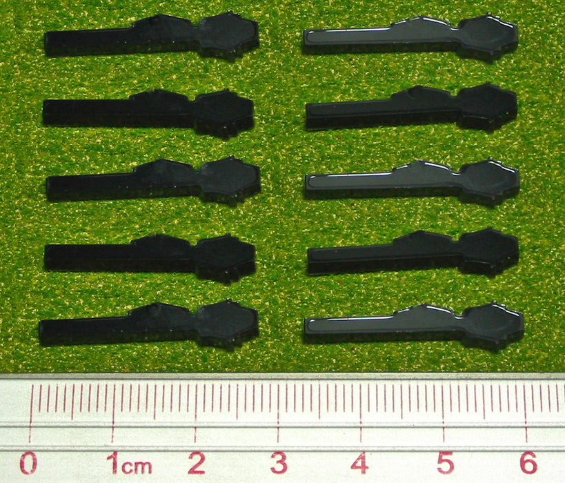Panzerfaust Tokens, Black (10) - LITKO Game Accessories