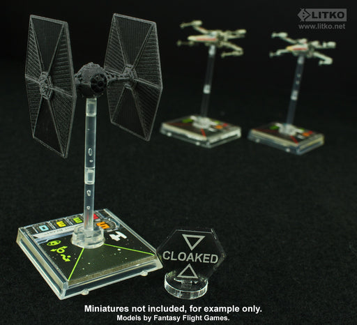 LITKO Space Fighter Cloaked Markers, Translucent Grey (5) - LITKO Game Accessories