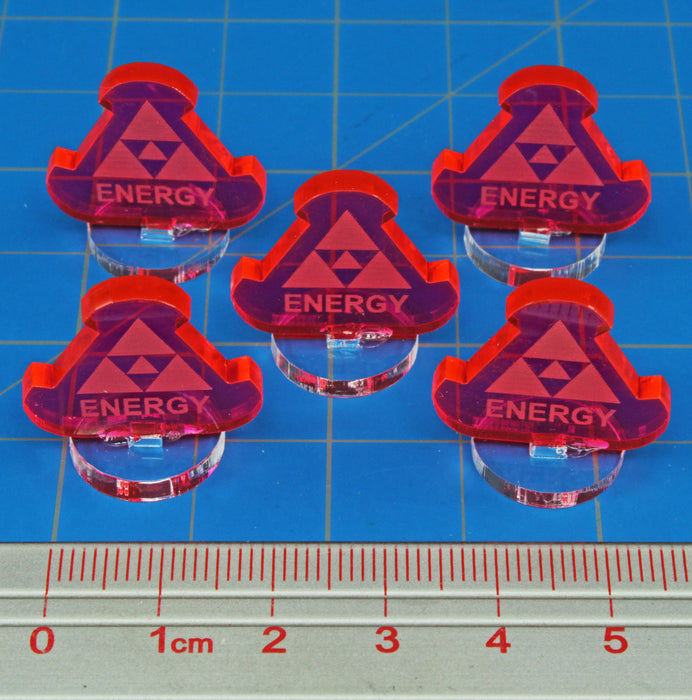 Space Fighter Energy Markers, Fluorescent Pink (5) - LITKO Game Accessories