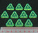LITKO Net Hacker Recurring Credit Tokens, Fluorescent Green (10) - LITKO Game Accessories