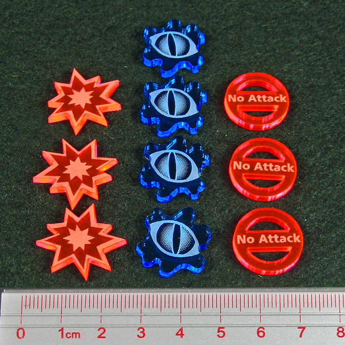 Dragon Wing Combat Token Set, Multi-Color (10) - LITKO Game Accessories