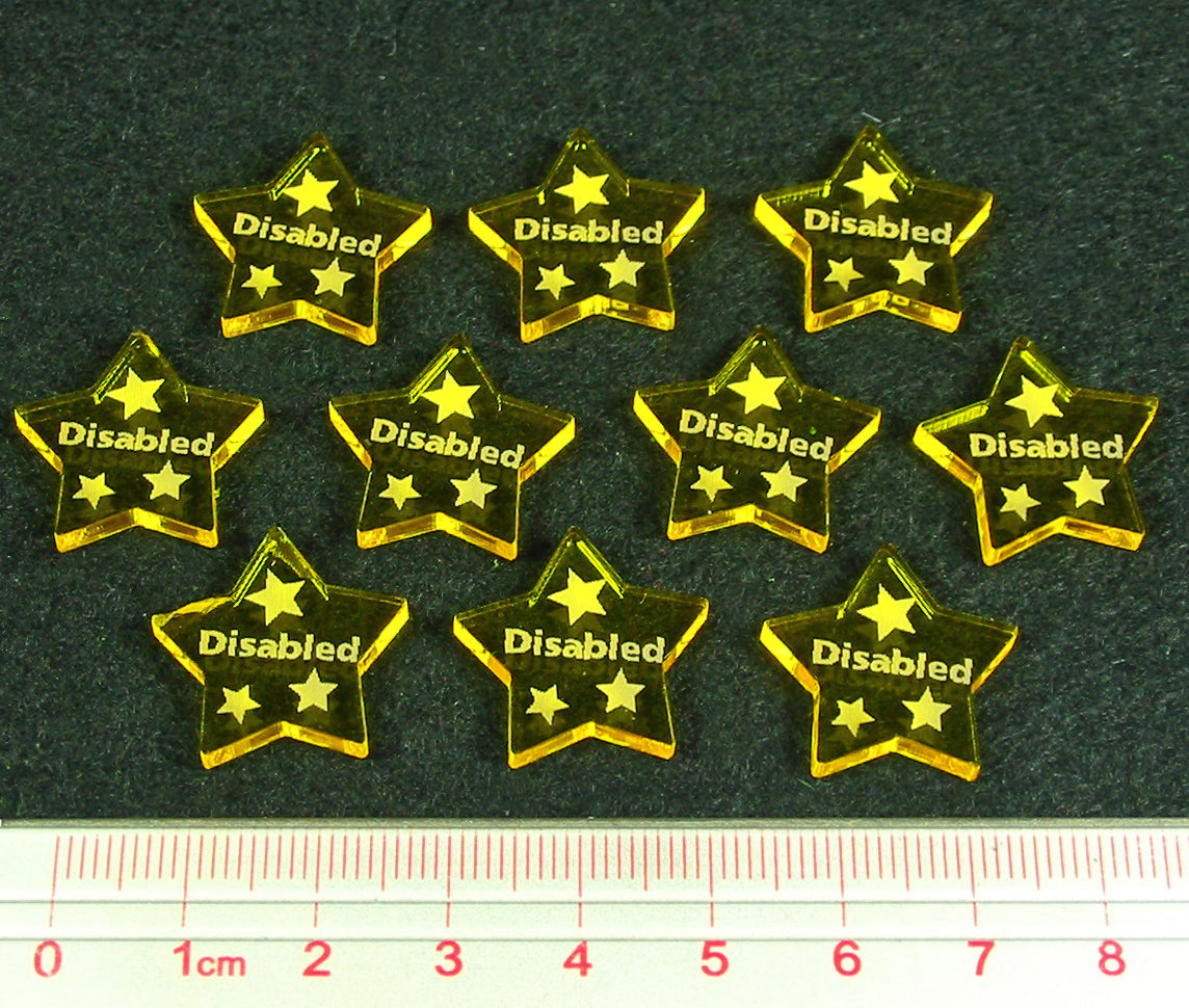 Dragon Wing, Disabled Tokens, Transparent Yellow (10) - LITKO Game Accessories