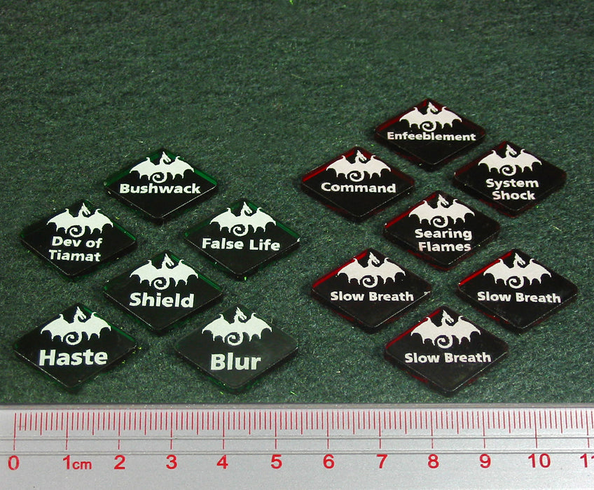 Dragon Wing Effect Token Set, Multi-Color (13) - LITKO Game Accessories
