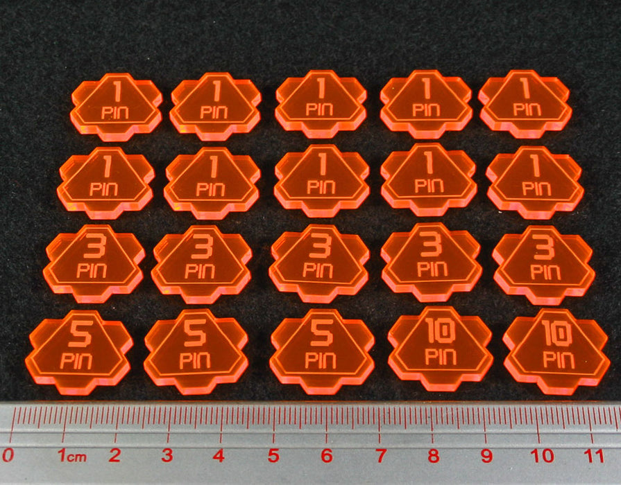 LITKO Pin Token Set Compatible with GoA, Fluorescent Orange (20) - LITKO Game Accessories
