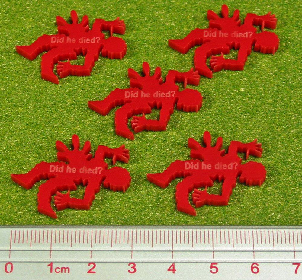 Did He Died? Tokens, Red  (5) - LITKO Game Accessories
