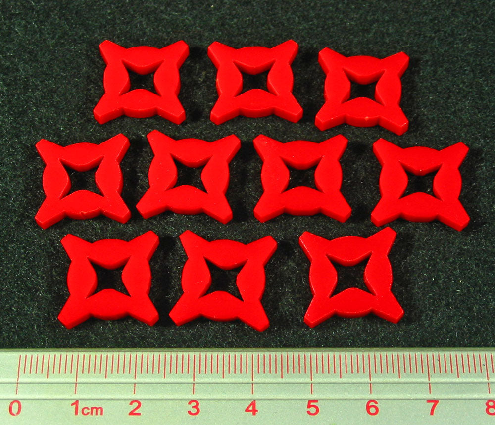 SW: Assault 1 Damage Tokens, Red (10) - LITKO Game Accessories