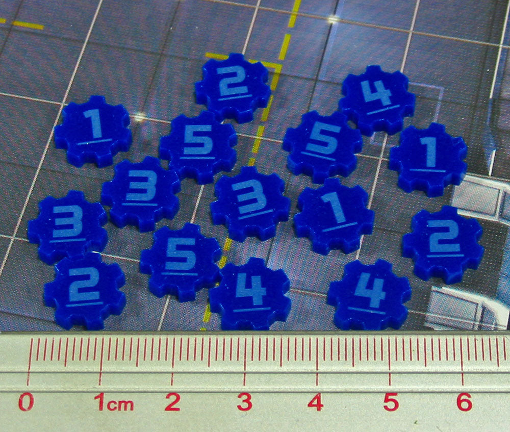 SW: Assault Identification Tokens #1-5, Blue  (15) - LITKO Game Accessories