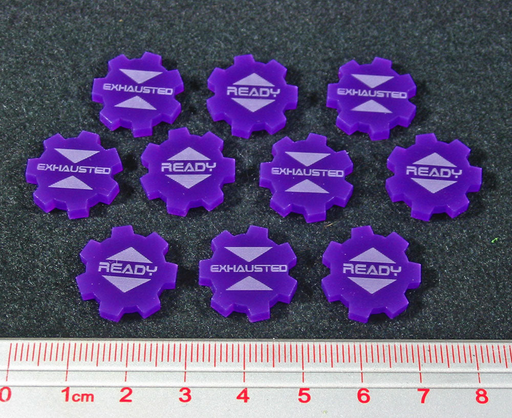 SW: Assault Ready Exhausted Tokens, Purple (10) - LITKO Game Accessories