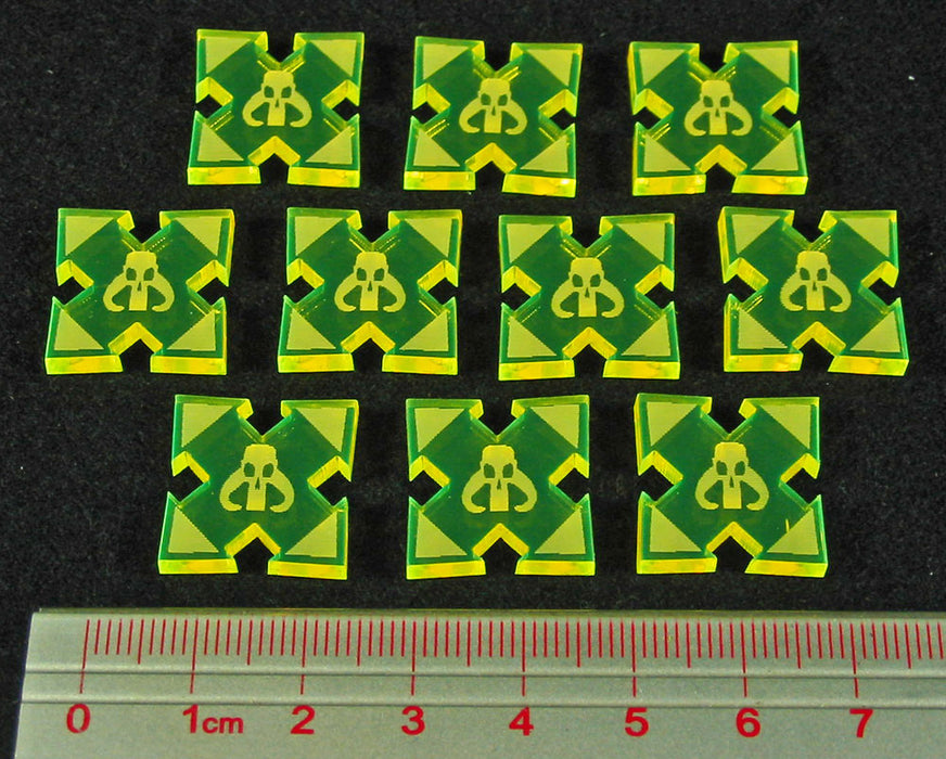 SW: Assault Scum Deployment Tokens, Fluorescent Yellow (10) - LITKO Game Accessories