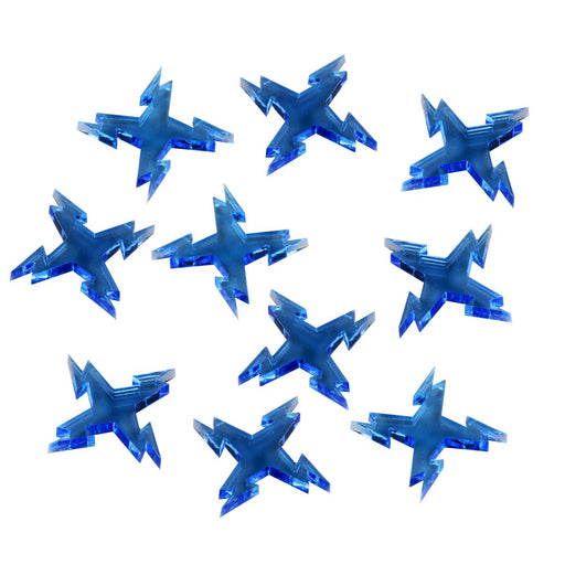 Space Fighter Ion Tokens, Fluorescent Blue (10) - LITKO Game Accessories